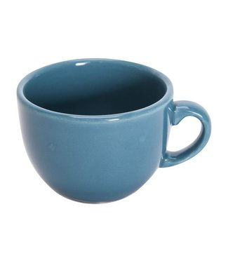 Cosy & Trendy Serena Blue Lagoon Coffee cup D6cm 10cl glossy Blue set of 12