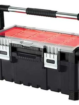 Keter Cantilever Toolbox Combo Zwart-rood56.7x31.4x24.5cm
