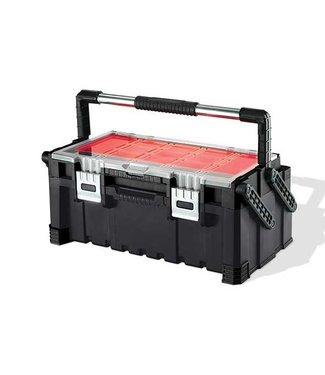 Keter Cantilever - Gereedschapskist - Combo - Zwart-rood - 56.7x31.4x24.5cm