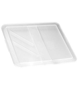 Keter Kronendeckel - für Karton 17-30 Liter - Transparent 44,4x37x1,5 cm - (4er-Set)