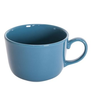 Cosy & Trendy Serena Blue Lagoon Jumbo Cup D11cm 49cl glossy Blue (set of 12)