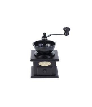 Cosy & Trendy Coffeegrinder Retro Black Wood11,5x11,5xh16cm