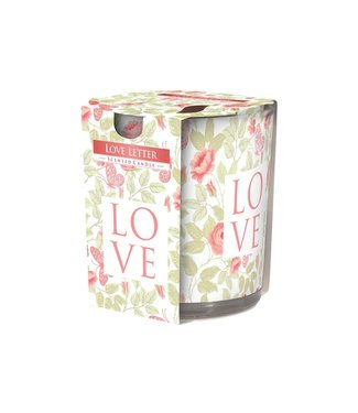 Cosy & Trendy Ct Scented Candle Glass Love Letter 22hrs D7xh8cm (set of 6)