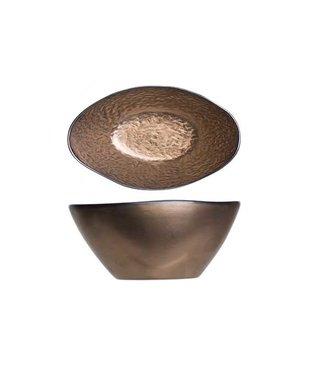 Cosy & Trendy Copernico - Salad bowl - Copper - 25x18xh11cm - Ceramic - (set of 2).