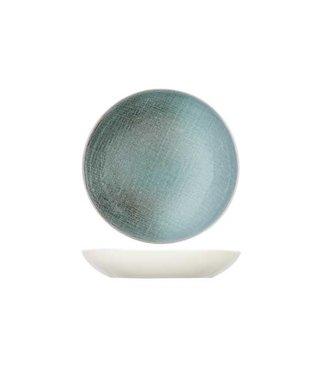 Cosy & Trendy Jacinto-Grün - Tiefe Platte - D23,5xh4cm - Porzellan - (6er-Set)