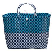 Cosy & Trendy Tas Trendy Wit Blauw 44x27x36cm