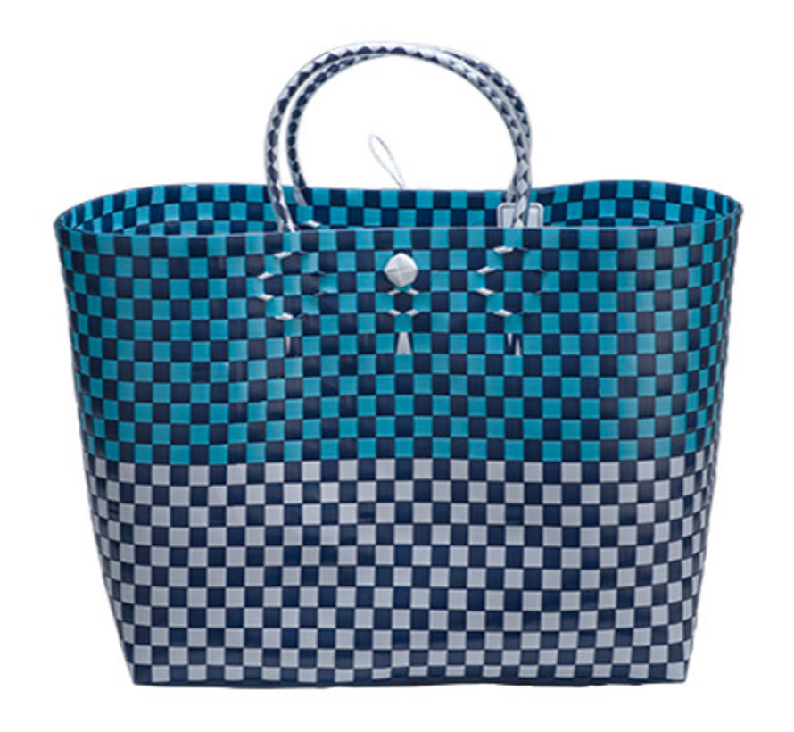 Bag Trendy White Blue 44x27x36cm