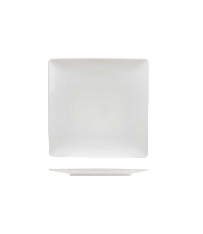 Cosy & Trendy Azia Servies Wit Platte Dinerborden - Porselein - 26x26cm - (set van 6)
