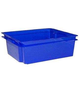 Keter Crownest - Opbergbox - 17 Liter - Blauw - 43x36x14.5cm - (set van 4)