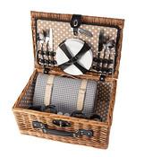 Cosy & Trendy Picknick Basket 4p-cutlery-plates-glasses-salt-peppershaker-wine Opener