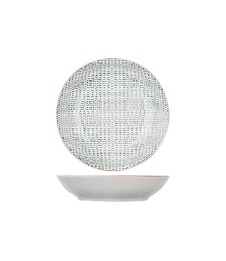 Cosy & Trendy Dylana - Geschirr - Grau - Tiefe Teller - Porzellan - D20,3xh4,5cm (6er Set)