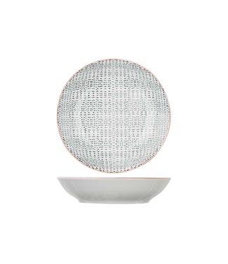 Cosy & Trendy Dylana - Vajilla - Gris - Platos profundos - Porcelana - D20,3xh4,5cm (Juego de 6)