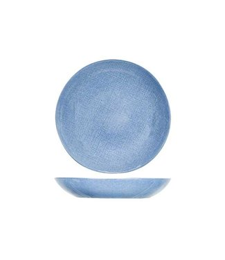Cosy & Trendy Sajet Blu Piatti Profondi D24xh4,2cm - Ceramica - (Set di 6)