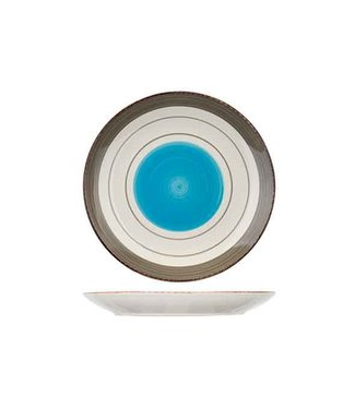 Cosy & Trendy Larissa Servies Blauw Platte Borden Aardewerk - D27cm