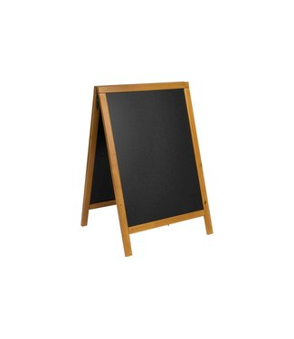 Securit Woody Chalkboard Black 54.5x44x85cmframe Pinewood Lacquered