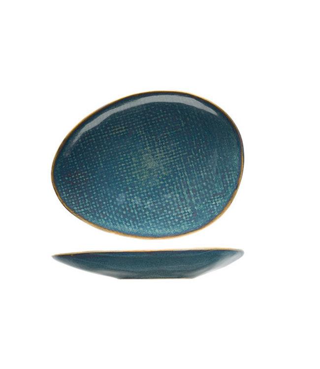 Cosy & Trendy Aicha - Blauw - Broodbordje - Keramiek - 15x11cm - (set van 6)