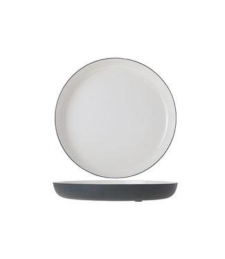 Cosy & Trendy Plate Alu 25cm White Enamel Grey Grahite