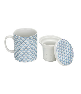 Cosy & Trendy Teetasse - Blau - T8xh10,5 cm - 28cl - Porzellan - (4er-Set).