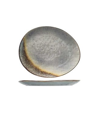 Cosy & Trendy Thirza Grey Plat Bord 27x23cm Ovaal