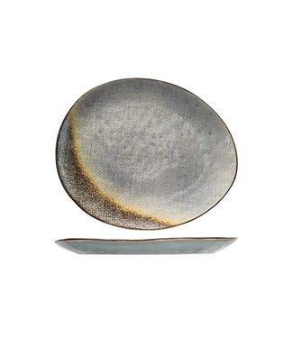 Cosy & Trendy Thirza Grey Teller Flach 27x23cm Oval
