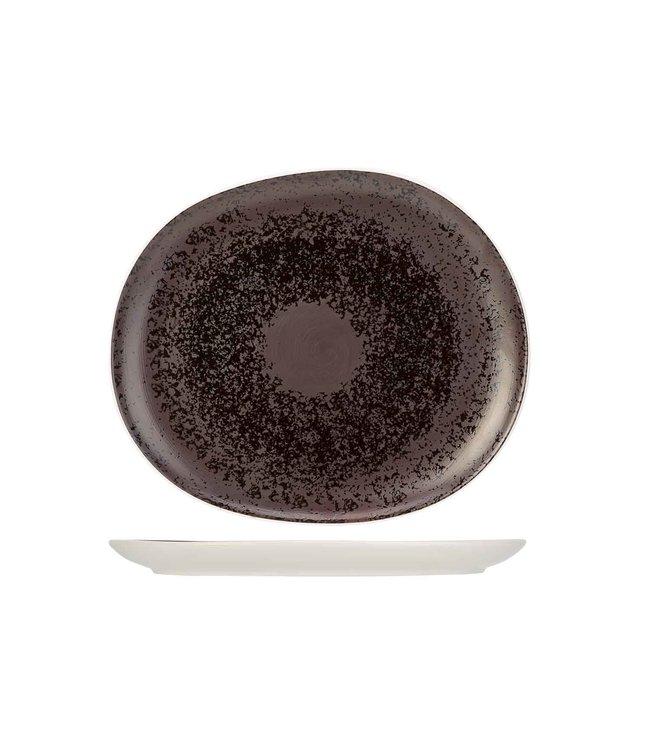 Cosy & Trendy Aubergina Dessertborden - Porselein -  23,2x19,8cm (Set van 6)
