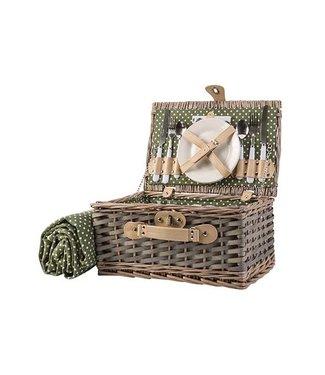 Cosy & Trendy Picknickmand 2pers Bestek-borden-glazen13dlg 38x26xh19cm