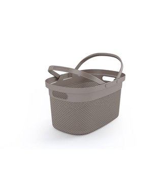 Kis Filo Shopping Basket Taupe 45,5x30xh24cm