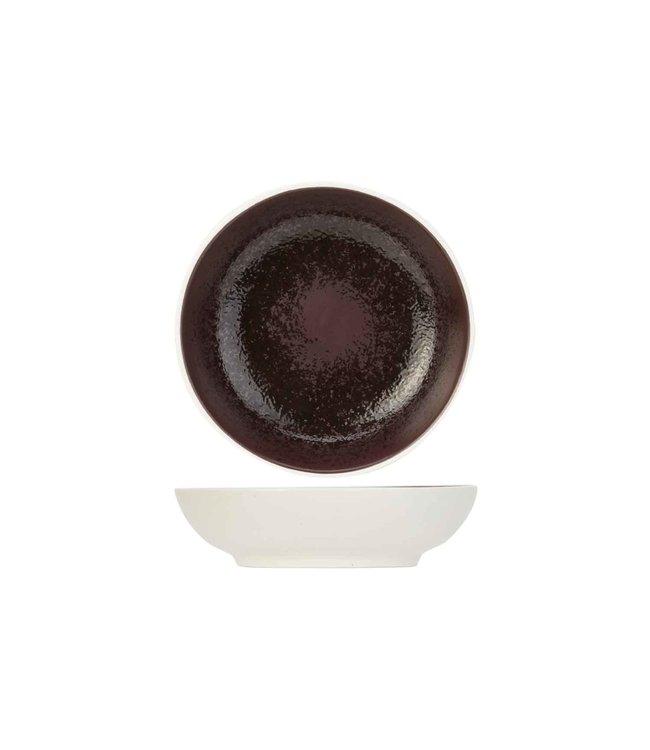 Cosy & Trendy Aubergina - Aperoschaaltje - Aubergine - D9,5xh2,5cm - Porselein - (set van 6)