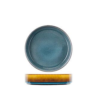 Cosy & Trendy Quintana Blauw Diepe Borden - Porselein - D19,5xh5,2cm (set van 6)