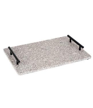 Cosy & Trendy Medical Stone Tray Handles Zwart Metaal35x25cm Rechthoek