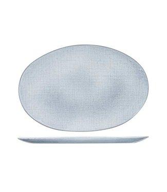 Cosy & Trendy Sajet Gray Flat Plate 35x24cm Oval (set of 2)
