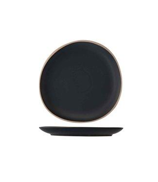 Cosy & Trendy Galloway Black Plat Bord D26cm (set van 4)