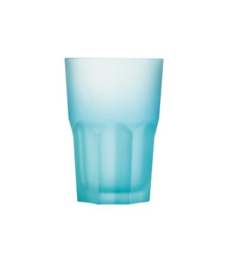 Luminarc Techno Colors - Waterglas - Blauw - 40cl - Glas - (set van 12).