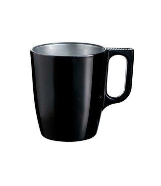Luminarc Flashy Mug Black 25cl (set of 6)