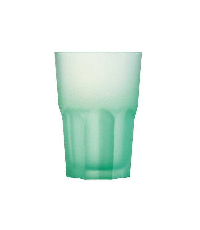 """Luminarc """"Techno-Colors-Lagoon"""" - Water glasses - 40cl - Glass - (Set of 12)"""