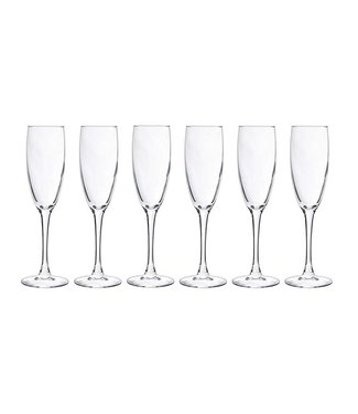Cosy Moments Gemütliche Momente - Champagnerglas - Transparent - 19cl - Glas - (6er-Set).