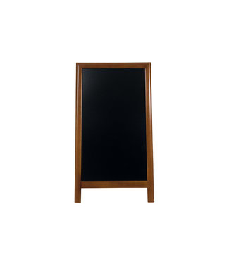 Securit Deluxe Pavement Chalkboard Black-brownbrown Lacquered Rubberwood 125x70.5x57