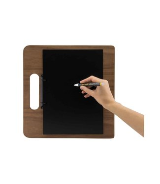Securit Walnut Menuhouder 32x22xh,5cmchopping Board With Ringband