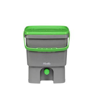 Plastika Skaza Set Bokashi Organico Abfalleimer-brain Igrey-green
