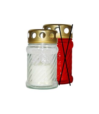 Cosy & Trendy Burial candle - White - 10 hours - 40g - 6.5x11.5cm - Candle - (set of 12).