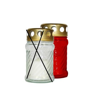 Cosy & Trendy Burial candle - Red - 10 hours - 40g - 6.5x11.5cm - Candle - (set of 12).