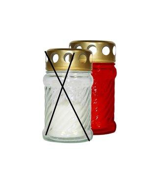 Cosy & Trendy Grabkerze - Rot - 10 Stunden - 40 g - 6,5 x 11,5 cm - Kerze - (12er-Set).