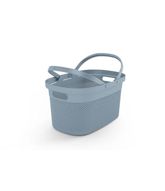 Kis Filo Shopping Basket Misty Blue 45,5x30xh24cm
