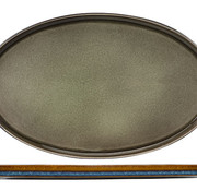Cosy & Trendy Quintana Green Teller Flach 35,5x23,5cmoval