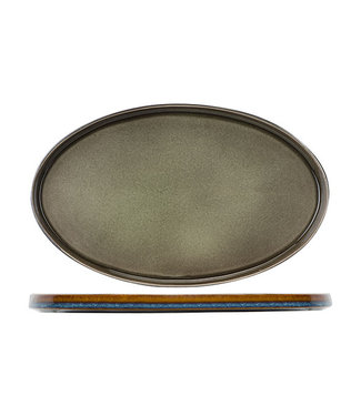Cosy & Trendy Piatto ovale piatto verde Quintana 25,5 * 23,5 cm (set di 2)
