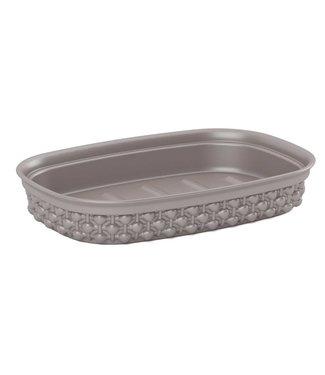 Kis Filo Soap Dish Taupe 15x10xh3cm Rectangular (set of 6)