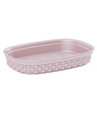 Kis Filo Soap Dish Rose15x10xh3cm Rectangular (set of 6)