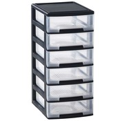 Curver Babel Drawer Tower A4 6x5l 35x26,5xh58cm