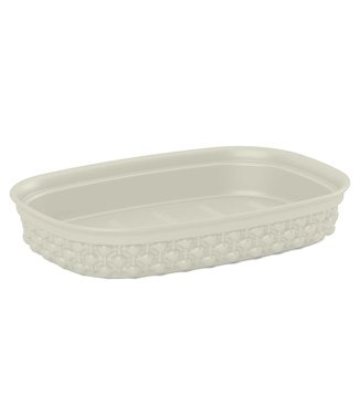 Kis Filo Soap Dish Ivory 15x10xh3cm Rectangular