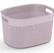 Kis Filo Basket L Rose 38x29xh22cm